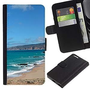 Billetera de Cuero Caso Titular de la tarjeta Carcasa Funda para Apple Iphone 6 PLUS 5.5 / Iberian Peninsula / STRONG