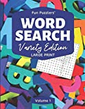 """Word Search: Variety Edition Volume 1: 8.5"""" x 11"""" Large Print (Fun Puzzlers Large Print Word Search Books)"""