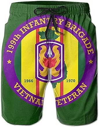 199th Light Infantry Brigade Vietnam Veteran Mens Board Shorts,Casual Shorts,Beach Shorts Summer Boardshorts