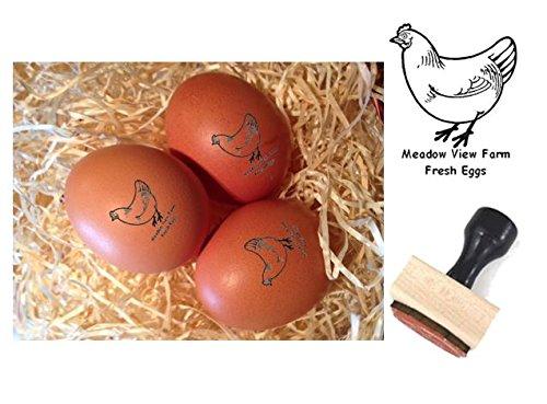 Egg Stamp (Personalised Rubber Egg Stamp - 12mm impression size)