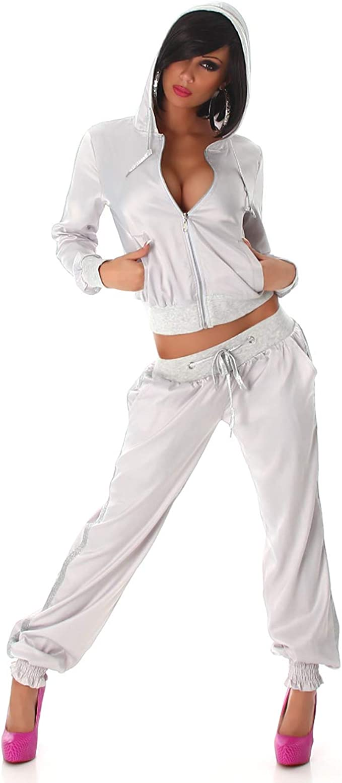 Blanco Store - Chándal - para Mujer Plateado 34 ES/M: Amazon.es ...
