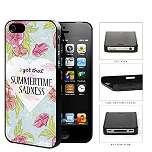 I Got That Summertime Sadnesss Hard Plastic Snap On Cell Phone Case Apple iPhone 4 4s