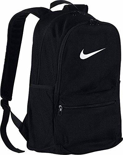 Nike Brasilla Mesh Backpack (MISC, Black/Black/White) (Mesh Backpack)