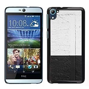 Caucho caso de Shell duro de la cubierta de accesorios de protección BY RAYDREAMMM - HTC Desire D826 - Blanco Negro Pared de ladrillo rústico Calle Graffiti