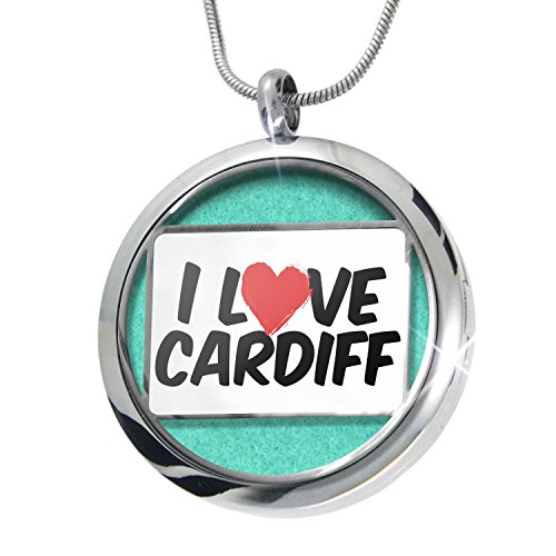 Cardiff Pendant (NEONBLOND I Love Cardiff Aromatherapy Essential Oil Diffuser Necklace Locket Pendant Jewelry Set)