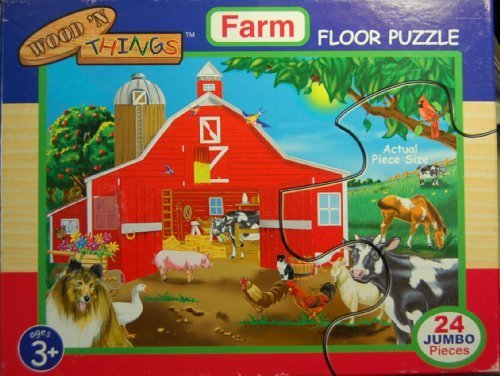 - Wood 'N Things Farm Floor Puzzle 24 Pcs 2x3 Feet