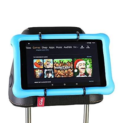 Hikig Car Headrest Mount Holder for Kids All Kindle Fire - Kindle Fire HD 6 / HD 7 / HD X7 / HD X9 / HD 6 (2014) / HD 7 (2014) / HD 6 (Kid Edition) / HD 7 (Kid Edition) / New Fire 7 / HD 8 / HD 10 by Hikig