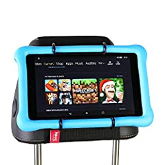 Hikig Car Headrest Mount Holder for kids all Kindle Fire - Kindle Fire HD 6 / HD 7 / HD X7 / HD X9 / HD 6 (2014) / HD 7 (2014) / HD 6 (Kid Edition) / HD 7 (Kid Edition) / New Fire 7 / HD 8 / HD 10 The Best Gift for Kids! This is a life saver ...