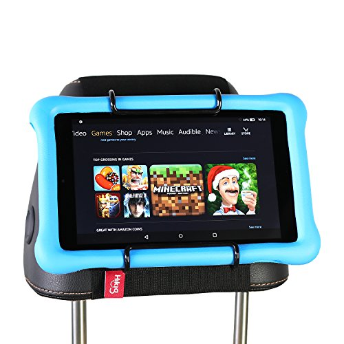 Hikig Car Headrest Mount Holder for Kids All Kindle Fire – Kindle Fire HD 6 / HD 7 / HD X7 / HD X9 / HD 6 (2014) / HD 7 (2014) / HD 6 (Kid Edition) / HD 7 (Kid Edition) / New Fire 7 / HD 8 / HD 10