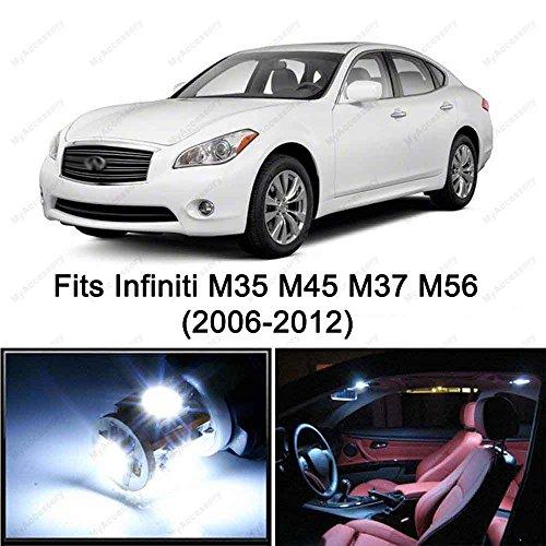 16 x Premium Xenon White LED Light Interior Package Kit for Infiniti M35 M45 M37 M56 (2006-2012)