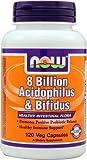 NOW Foods 8 Billion Acidophilus & Bifidus -- 8 billion - 120 Veg Capsules - 3PC