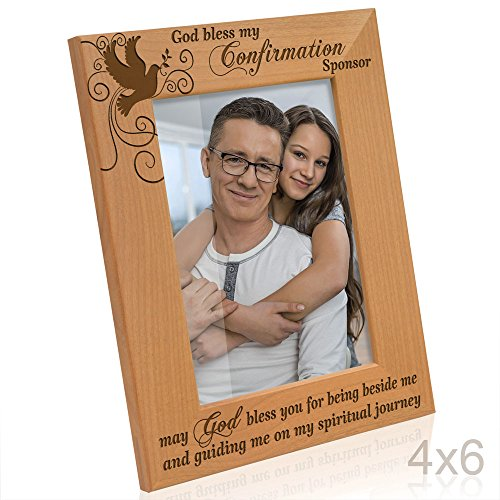 Kate Posh - God Bless my Confirmation Sponsor - may God bless you for being beside me and guiding me on my spiritual journey - Picture Frame (4x6 Vertical)