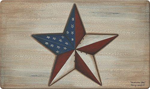(Toland Home Garden American Star 18 x 30 Inch Decorative Floor Mat Rustic Patriotic USA Stars Stripes Doormat)