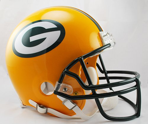 Green Bay Packers Riddell Full Size Authentic NFL Pro Football Helmet - New in Riddell Box by Creative Sports