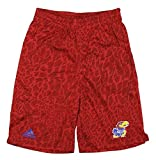 Kansas Jayhawks NCAA Big Boys Youth Crazy Light Shorts, Red (Red, Medium (8))