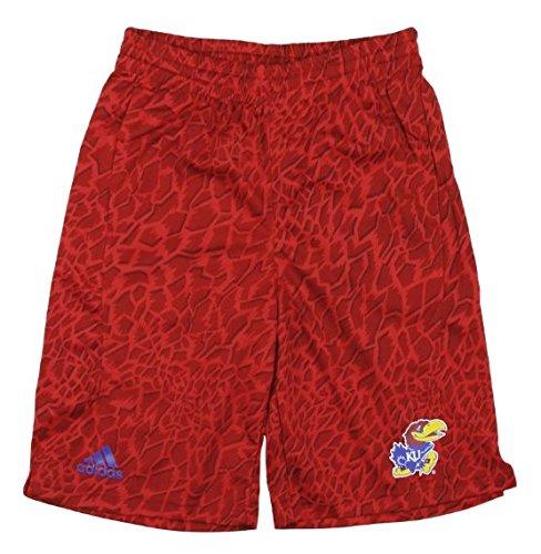 adidas Kansas Jayhawks NCAA Big Boys Youth Crazy Light Shorts, Red (Red, Medium (8))