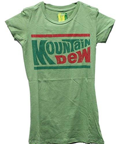 Mountain Dew Ladies Distressed Classic Logo Tee Shirt