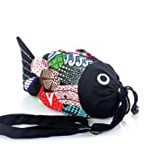 Cute Fabric Fish Drawstring Multi-Pattern Fashion Cross Body Bag