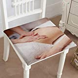 Mikihome Dining Chair Pad Cushion a Woman receiv a Belly Massage at spa Salon Fashions Indoor/Outdoor Bistro Chair Cushion 18''x18''x2pcs