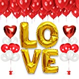 Rose Gold Love Bridal Shower Party Kit Decorations for Classy Bachelorette or Wedding or Galentines Day with Valentine Balloons Sculpture Photo Booth Backdrop