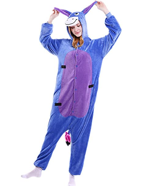 5a430d6ebd Minetom Unisex Adulto Cartone Animato Kigurumi Flanella Intera Pigiama  Costumi di Carnevale Anime Cosplay Halloween Costume Attrezzatura:  Amazon.it: ...
