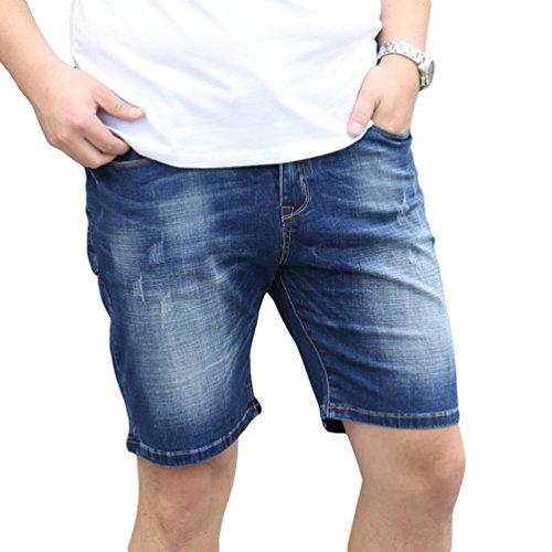 44dabef62e Heheja Hombre Talla Extra Elasticidad Denim Pantalones Cortos Verano Ocio Jean  Shorts 30%OFF