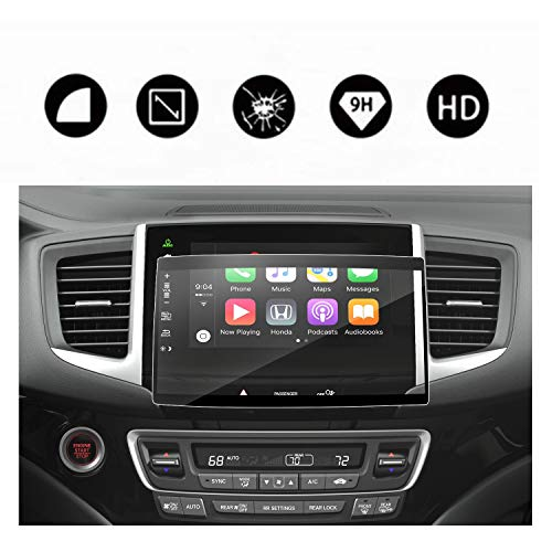 - 2016-2018 Pilot Ridgeline Navigation Screen Protector Center Touch Display Anti Scratch High Clarity Clear HD Tempered Glass Protective Film (2016-2018 Pilot 8 Inch)