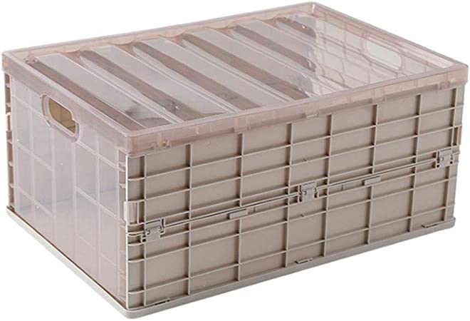 LXMT Caja de Almacenamiento Plegable de plástico Caja de Almacenamiento miscelánea Ropa de hogar Caja de Almacenamiento de Juguetes, Adecuada para Turismo, hogar,Khaki,L: Amazon.es: Hogar