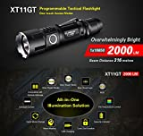 Klarus Upgraded XT11GT SUPER BUNDLE w/ XT11GT LED Compact Tactical Rechargeable Flashlight, 18650 Battery, USB Cable, Lanyard, Holster, Pocket Clip, Car Charger, Wall Adapter, and USB Mini Light