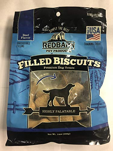 Redbarn Pet Products Chewy Louie Biscuit Beef, 14 Ounces (1 Pack)