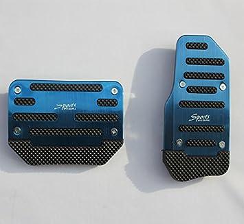 Yosoo 2 x plata automático para focos no-Slip-Pedal de acelerador Footrest freno embrague pie Pad Cover: Amazon.es: Coche y moto