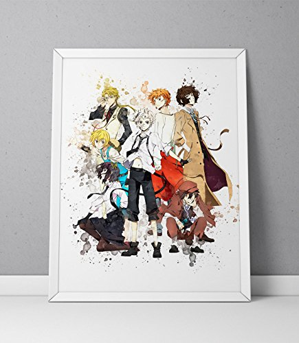 Bungou Stray Dogs print, Bungou Stray Dogs poster, Anime print Watercolor N.001 (8 x 10 inch)