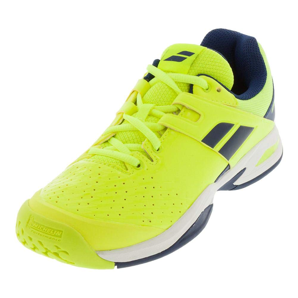 Court Junior Tennis Shoes, Fluo Yellow