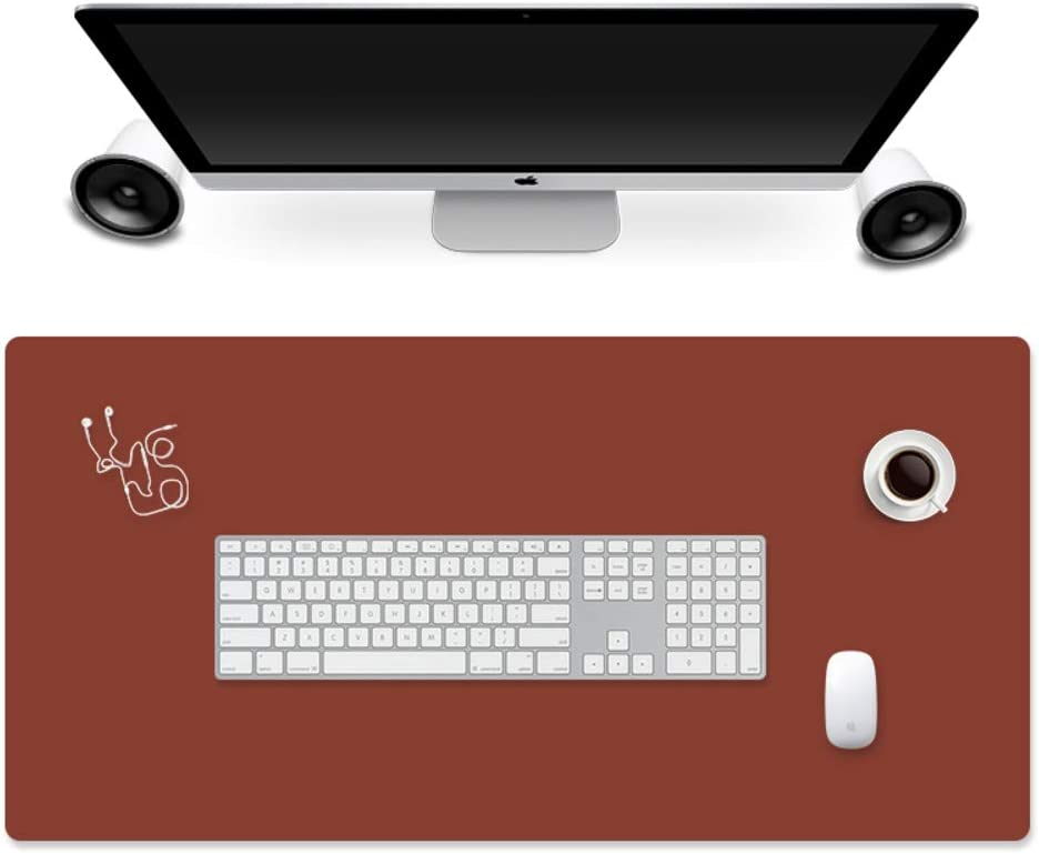 47x24inch JiaQi Double Sided Desk Mat Mouse Pad,pu Leather Mouse Pad,Multifunctional Ultra Thin Waterproof Mouse Mat for Office Laptop Computer-h 120x60cm