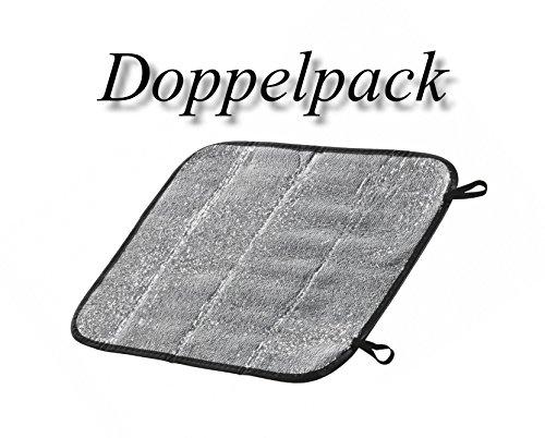 Doppelpack - Thermomatte Isomatte Kissen Isolationskissen Unterlage Sitzunterlage Alu Sitzkissen