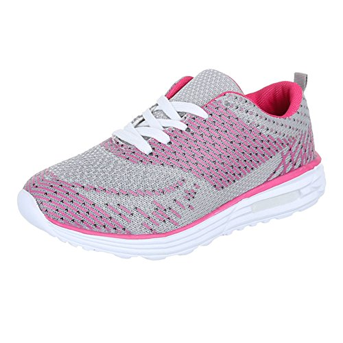 Ital-Design - Zapatillas de Material Sintético para mujer Rosa - Pink Silber