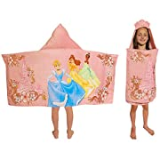 Disney Princess Hooded Towel Cinderella, Belle, Tiana
