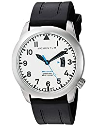 Momentum Men's 1M-SP18LS1B Analog Display Swiss Quartz Black Watch