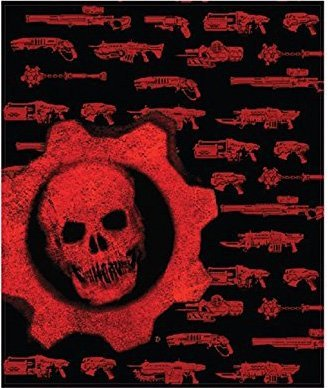 "Price comparison product image 45""x60"" OFFICIAL Gears of War Skull and Weapons designed Wall Hanging Tapestry/Fleece Throw Blanket Novelty GIFT"