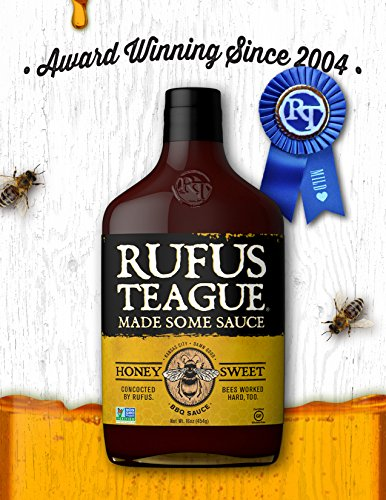 Rufus Teague- Honey Sweet BBQ Sauce-16oz. World Famous Kansa