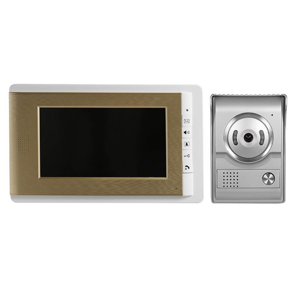7'' TFT LCD Wired Video Door Phone System Intercom Doorbell IR Camera US