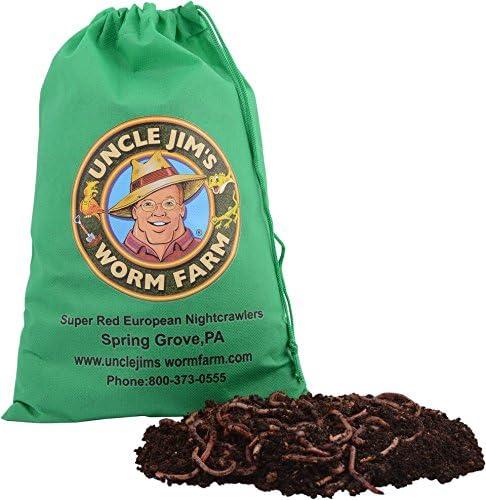 Amazon.com: Tío Jim de gusano Nightcrawlers de compostaje ...