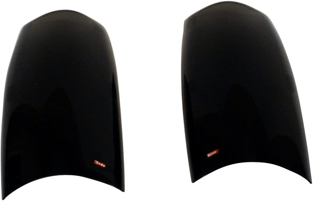 Pair Wade 72-36826 Smoke Tint Solid Design Tail Light Cover