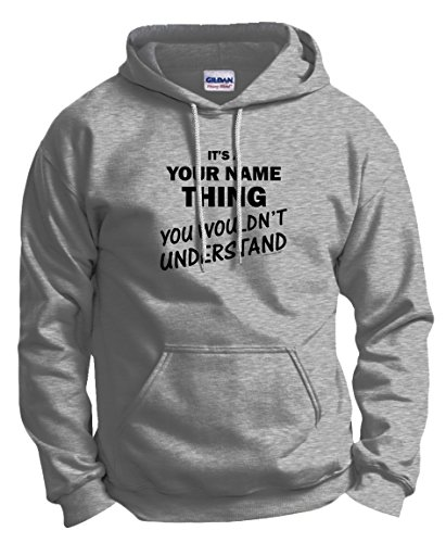 Custom T-Shirt Personalized It's a Your Text Thing Funny Custom Hoodie Sweatshirt Small Ash