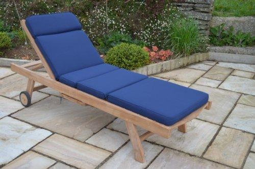 Cuscino per lettino a sdraio da giardino classico - Cuscino solo - Colore blu