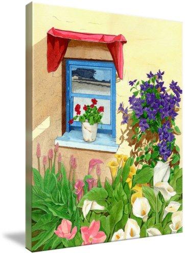 window with blue flowers (Giclee Art Print), Patrizia Donaera
