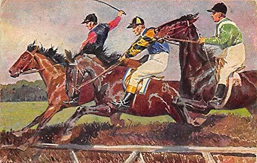 Misc Artist Signed Horse Racing Postcard Unused