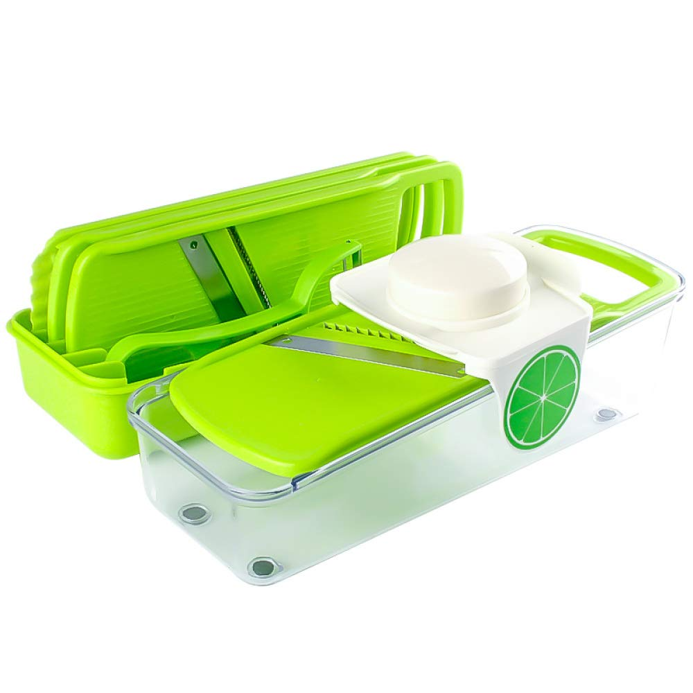 DENGSH Vegetable Slicer£¬Multi-Function Grater Board,Home Creative Cutter,Manual Kitchen Tool Suit,Easy to Operate Practical/Green by DENGSH