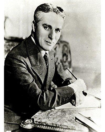 Globe Photos ArtPrints Charlie Chaplin Seated at Desk - 8
