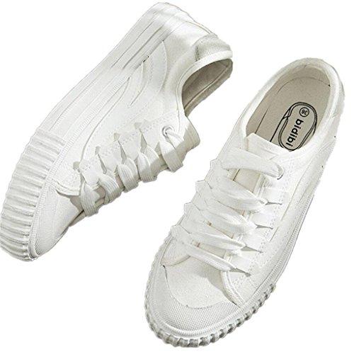 Tempo White Black Confortevole 38 Ping 35 White Scarpe Studenti Daily Movimento Xie Lady Fitness Libero Shoes Canvas Classic Corsa 84TRfqw
